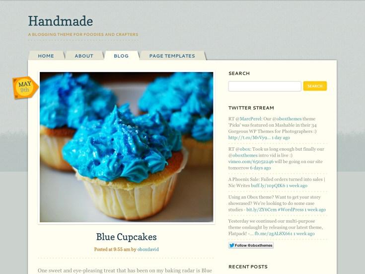 Screenshot of the Handmade theme