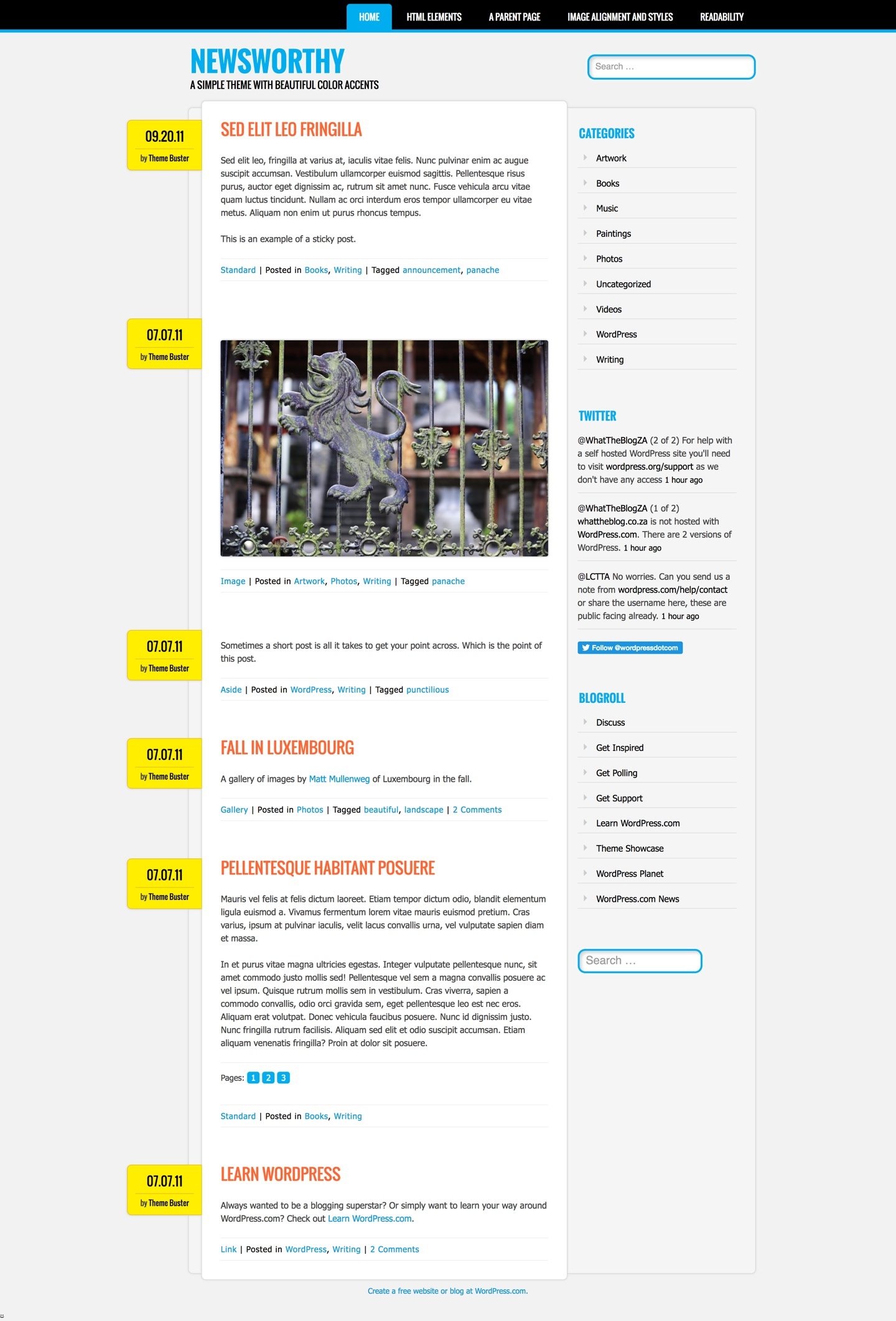 Newsworthy WordPress Theme