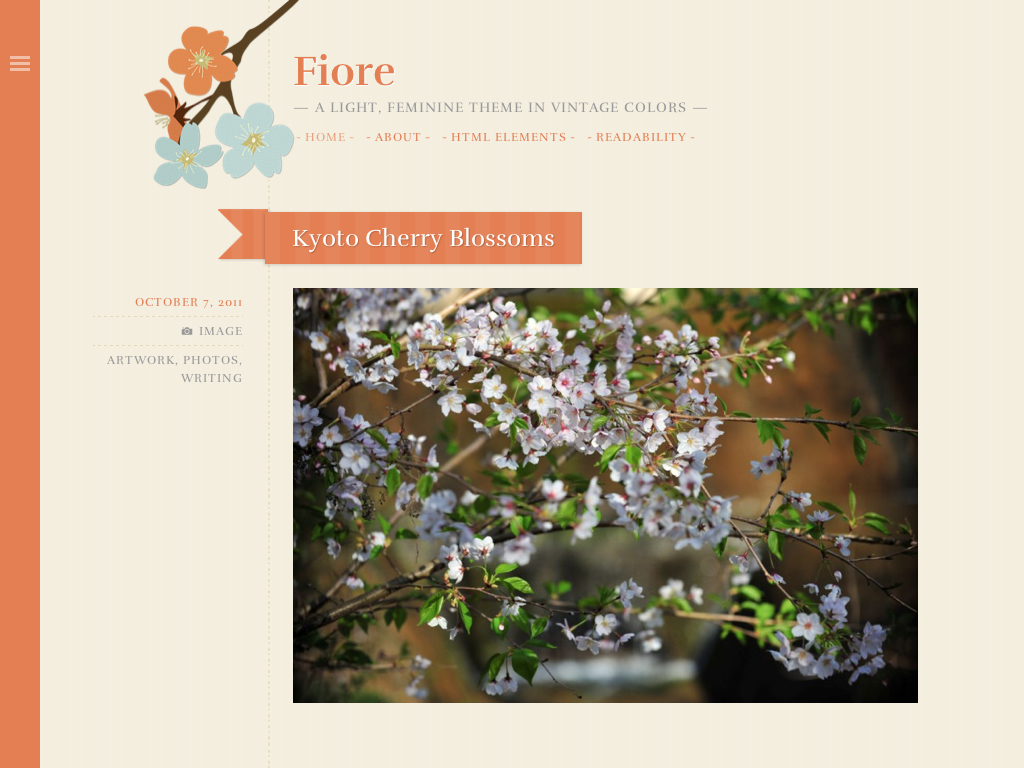 Fiore WordPress Theme