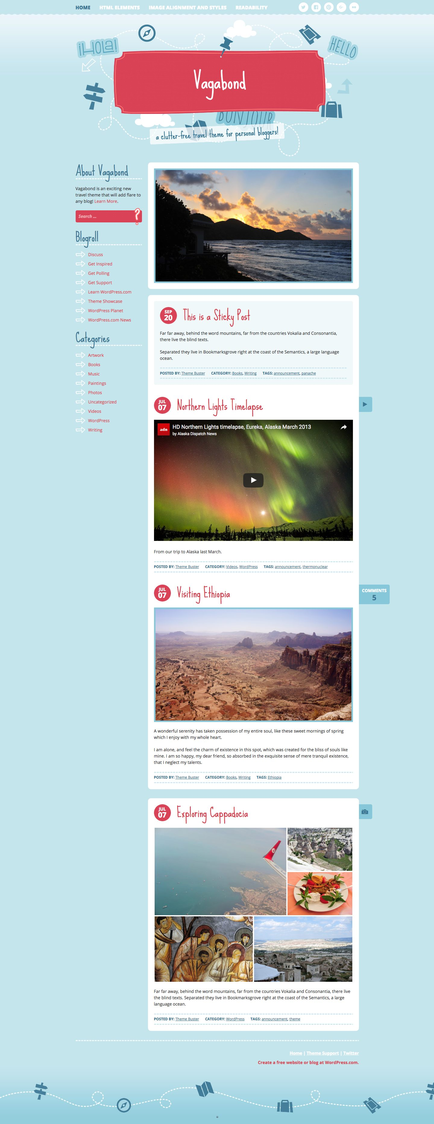 Vagabond WordPress Theme