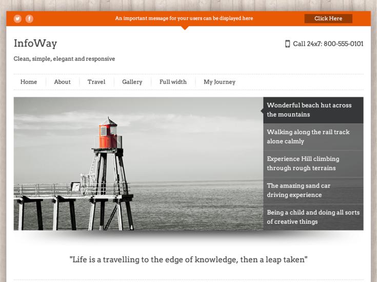 Screenshot of the InfoWay theme