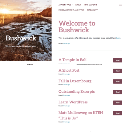 Bushwick WordPress Theme