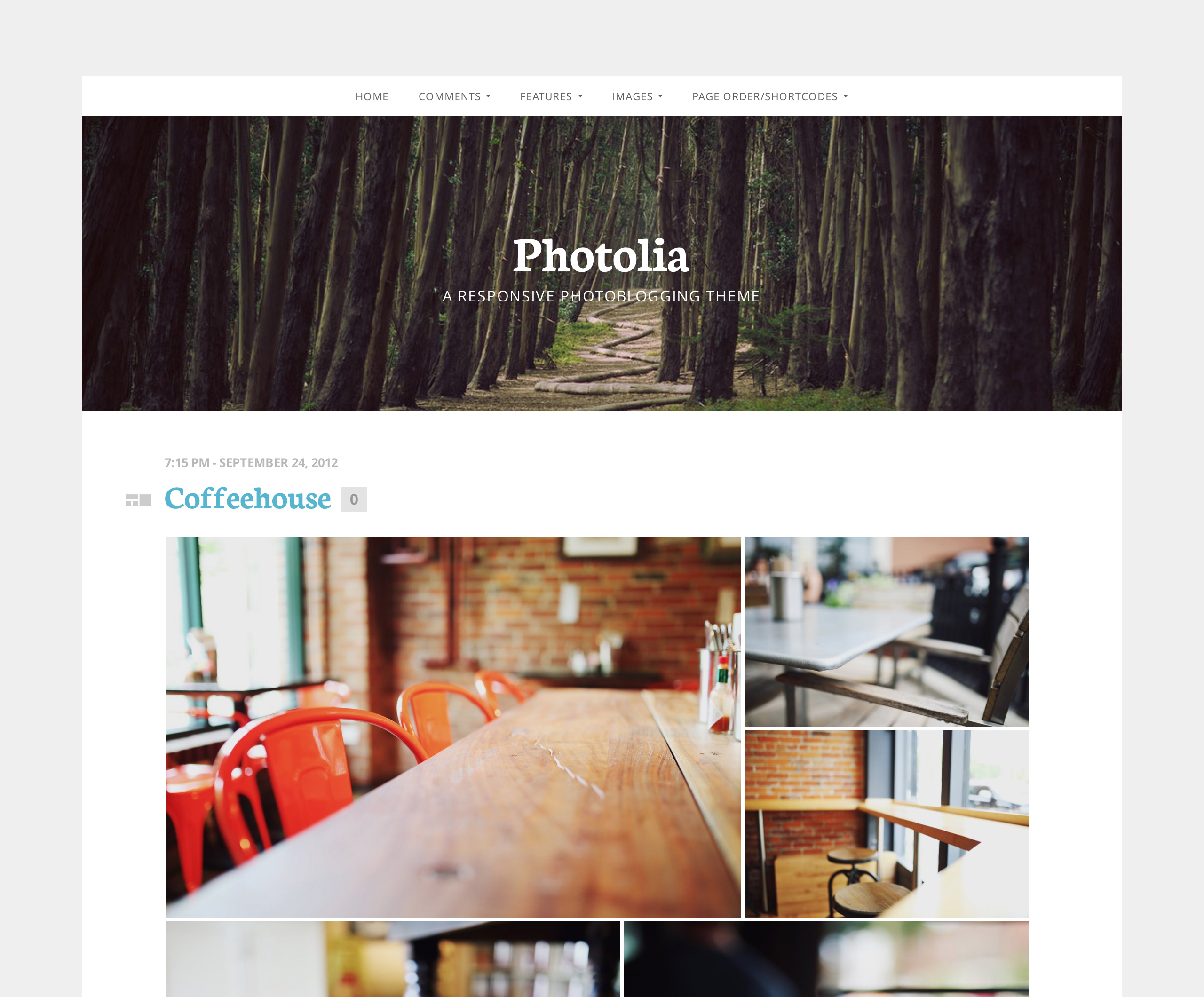 Screenshot of the Photolia theme