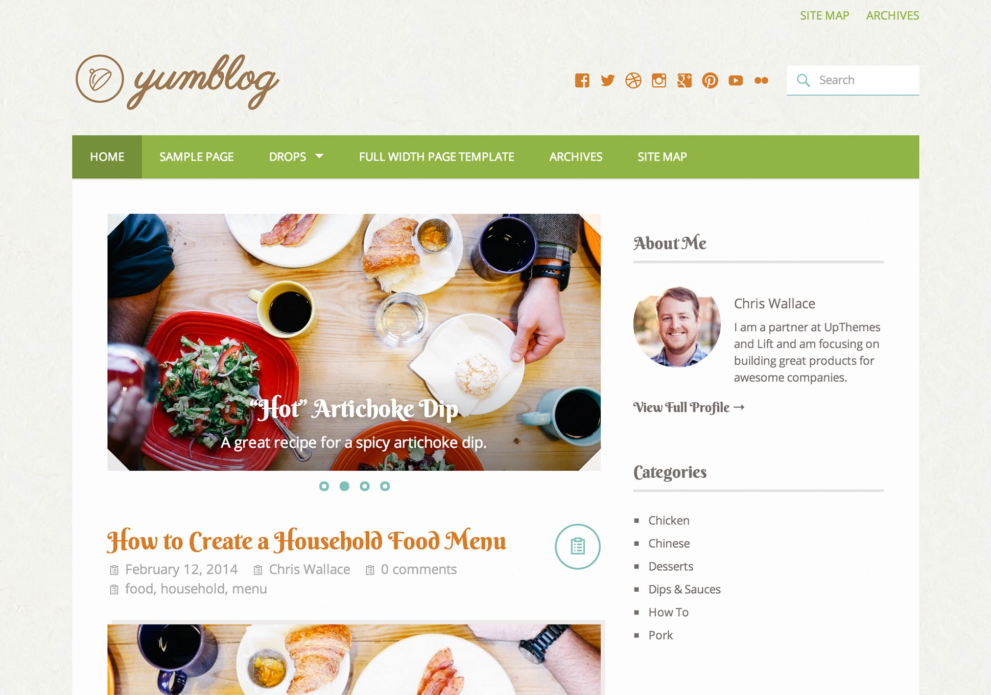 Yumblog WordPress Theme