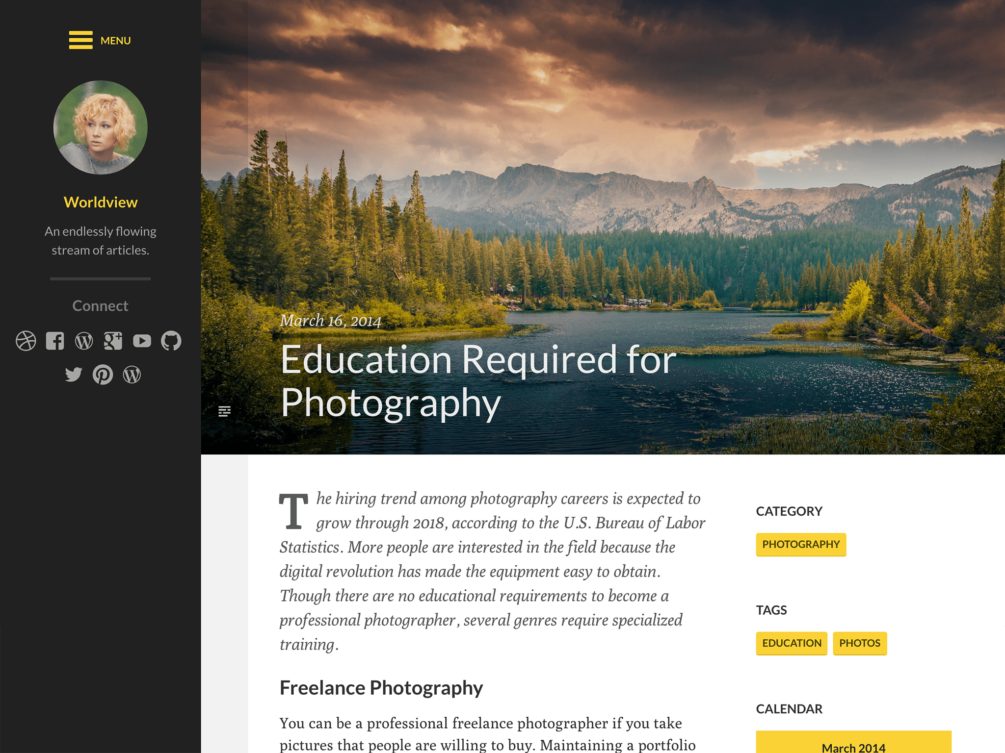 Worldview WordPress Theme