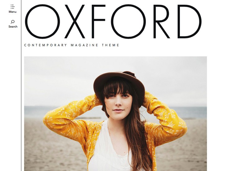 Screenshot of the Oxford theme