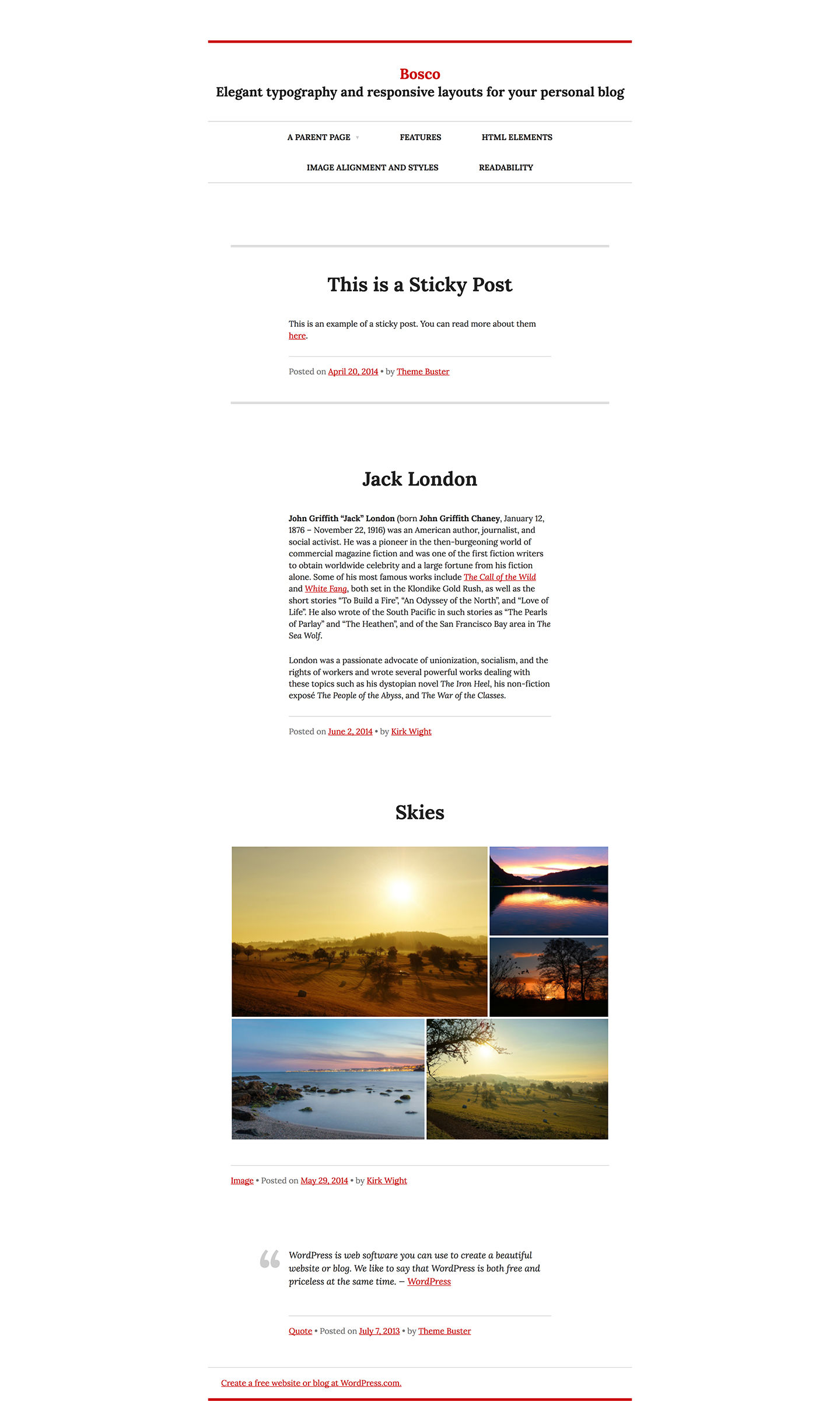 Bosco WordPress Theme