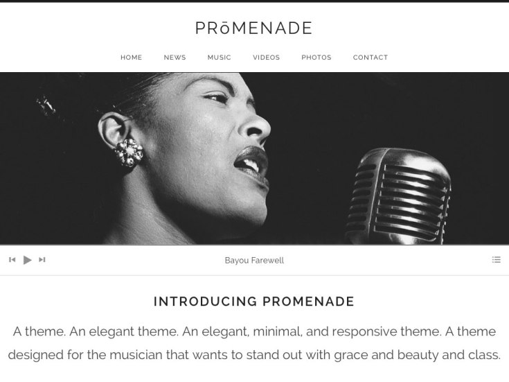 Screenshot of the Promenade theme