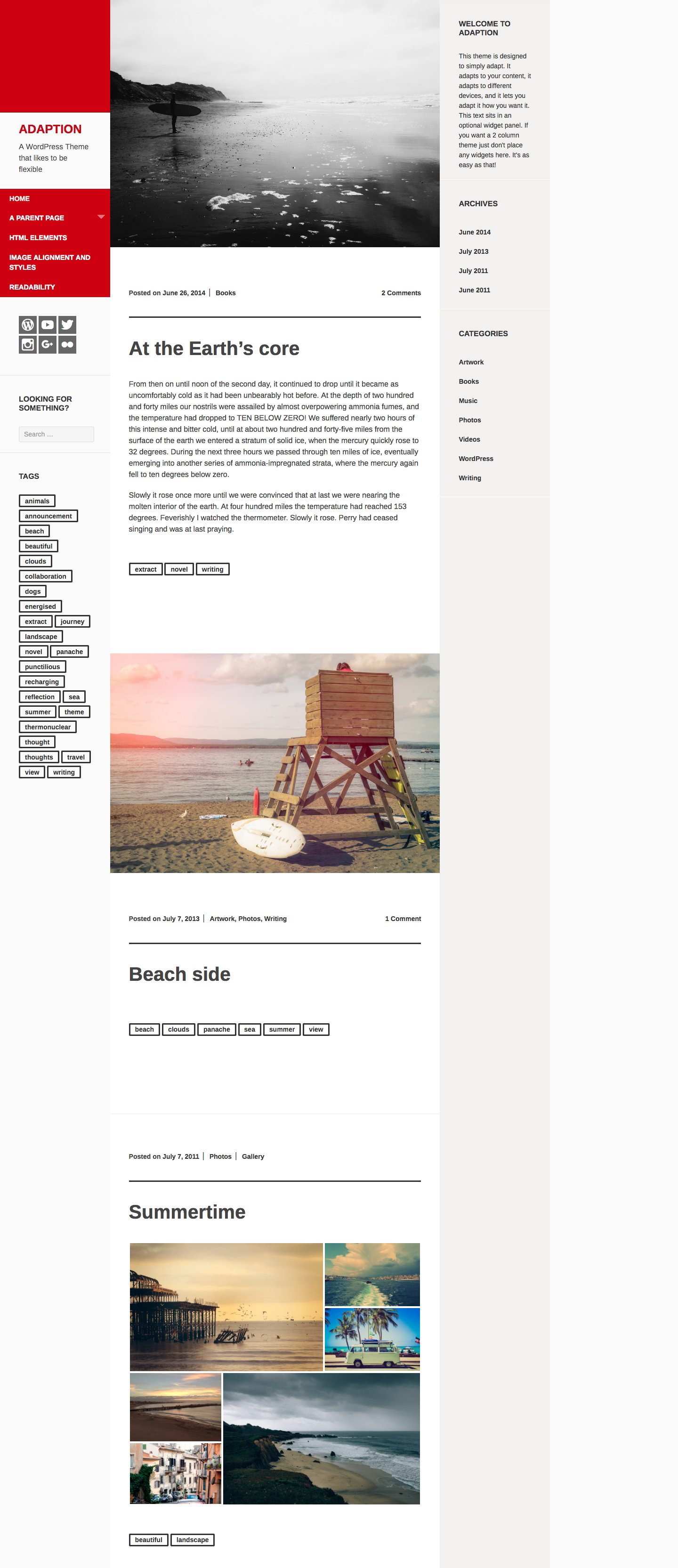 Adaption WordPress Theme