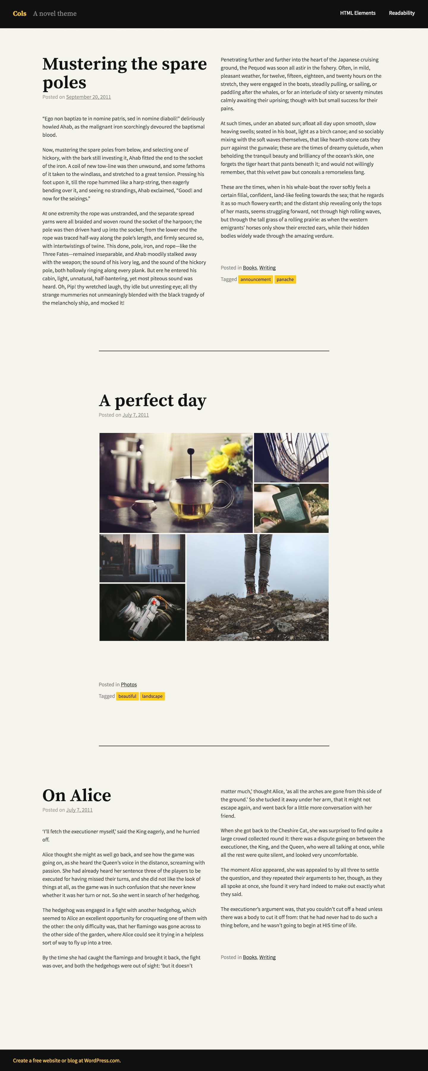 Cols WordPress Theme
