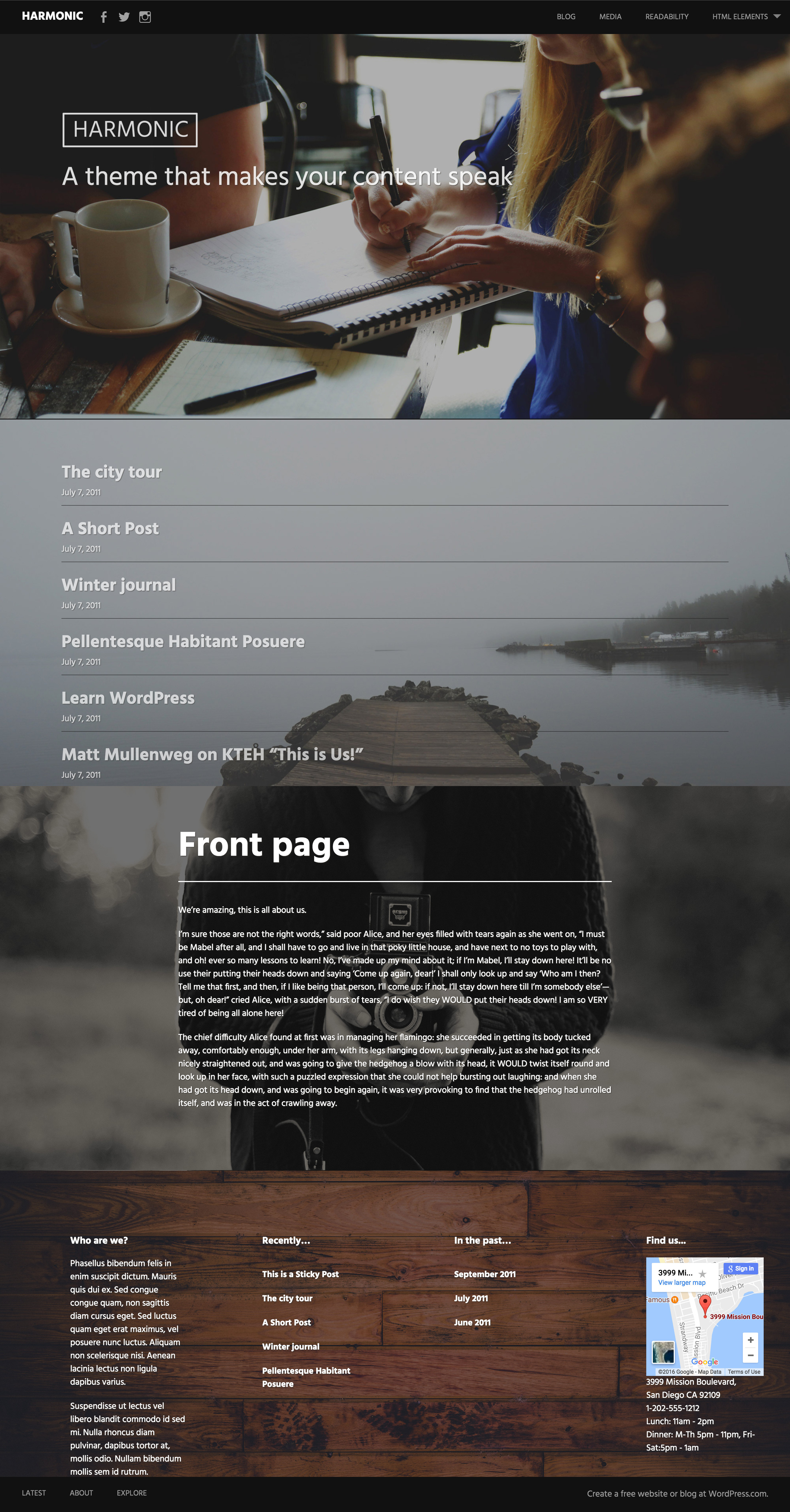 Harmonic WordPress Theme
