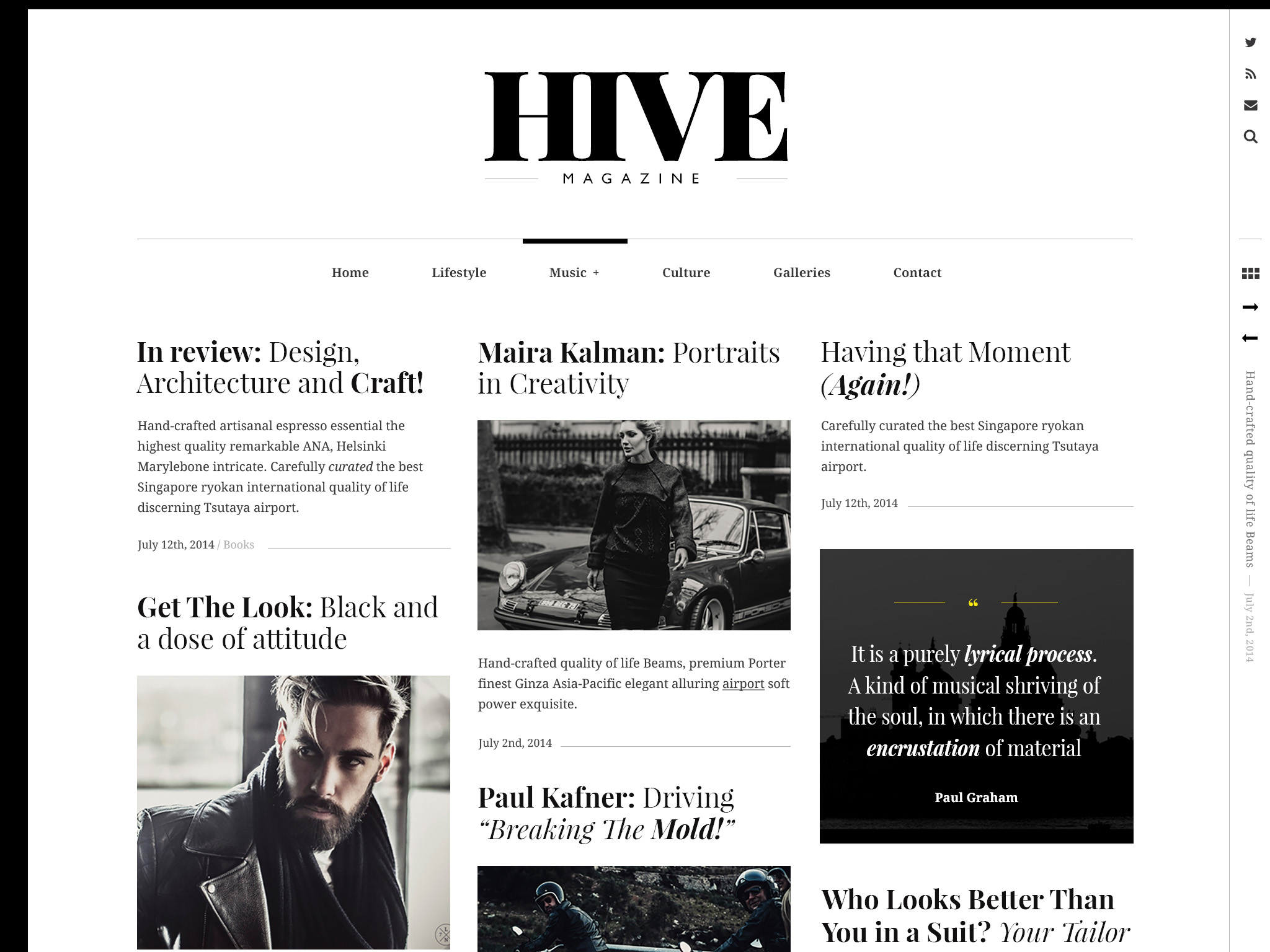Hive WordPress Theme