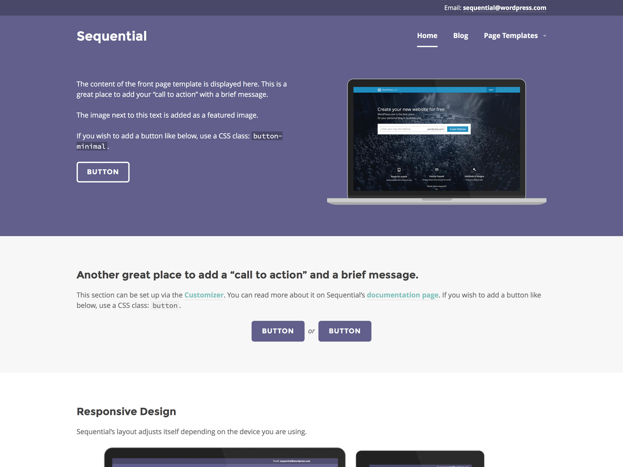 Sequential WordPress Theme