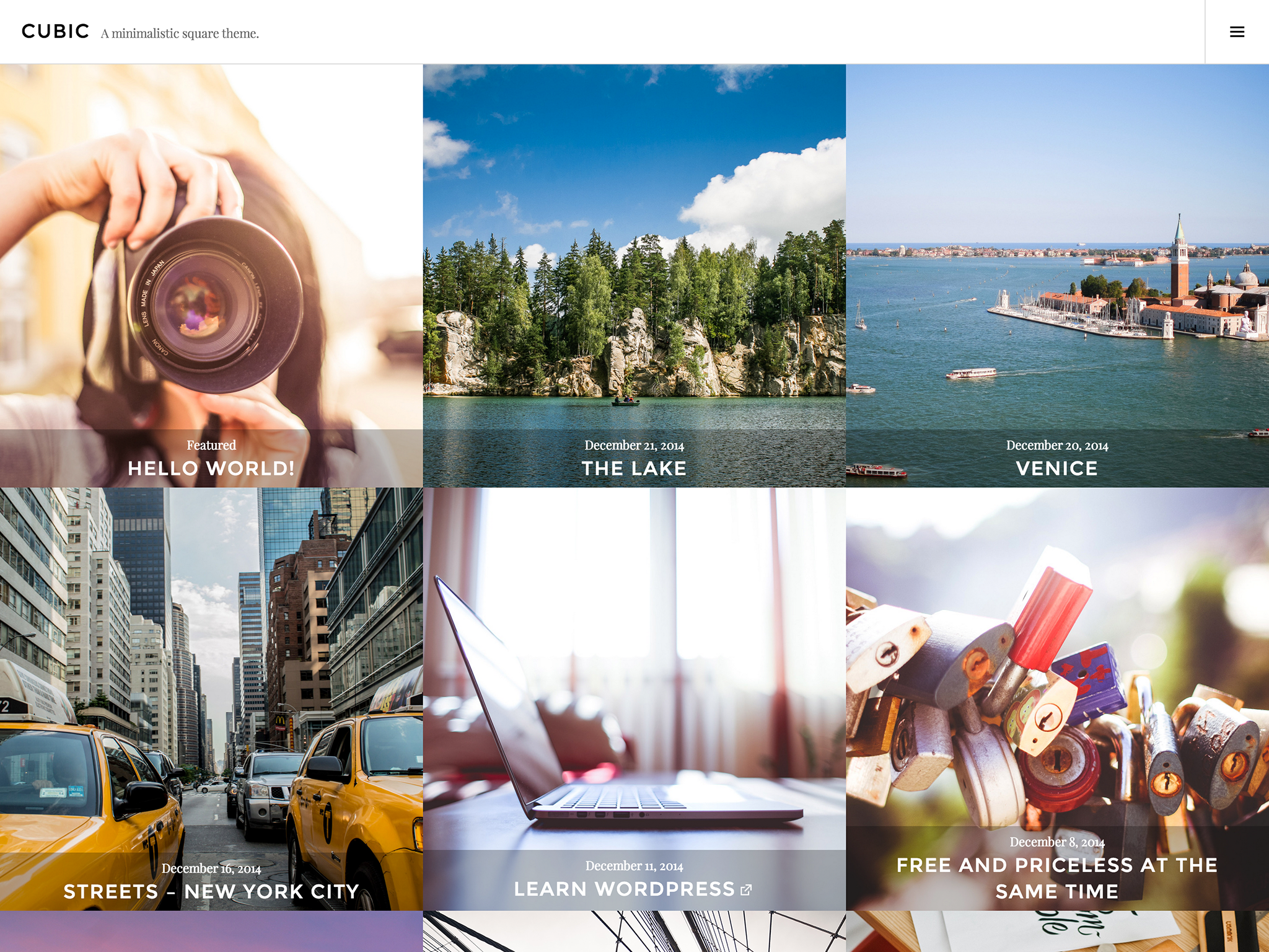 Cubic WordPress Theme