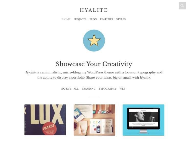Screenshot of the Hyalite theme