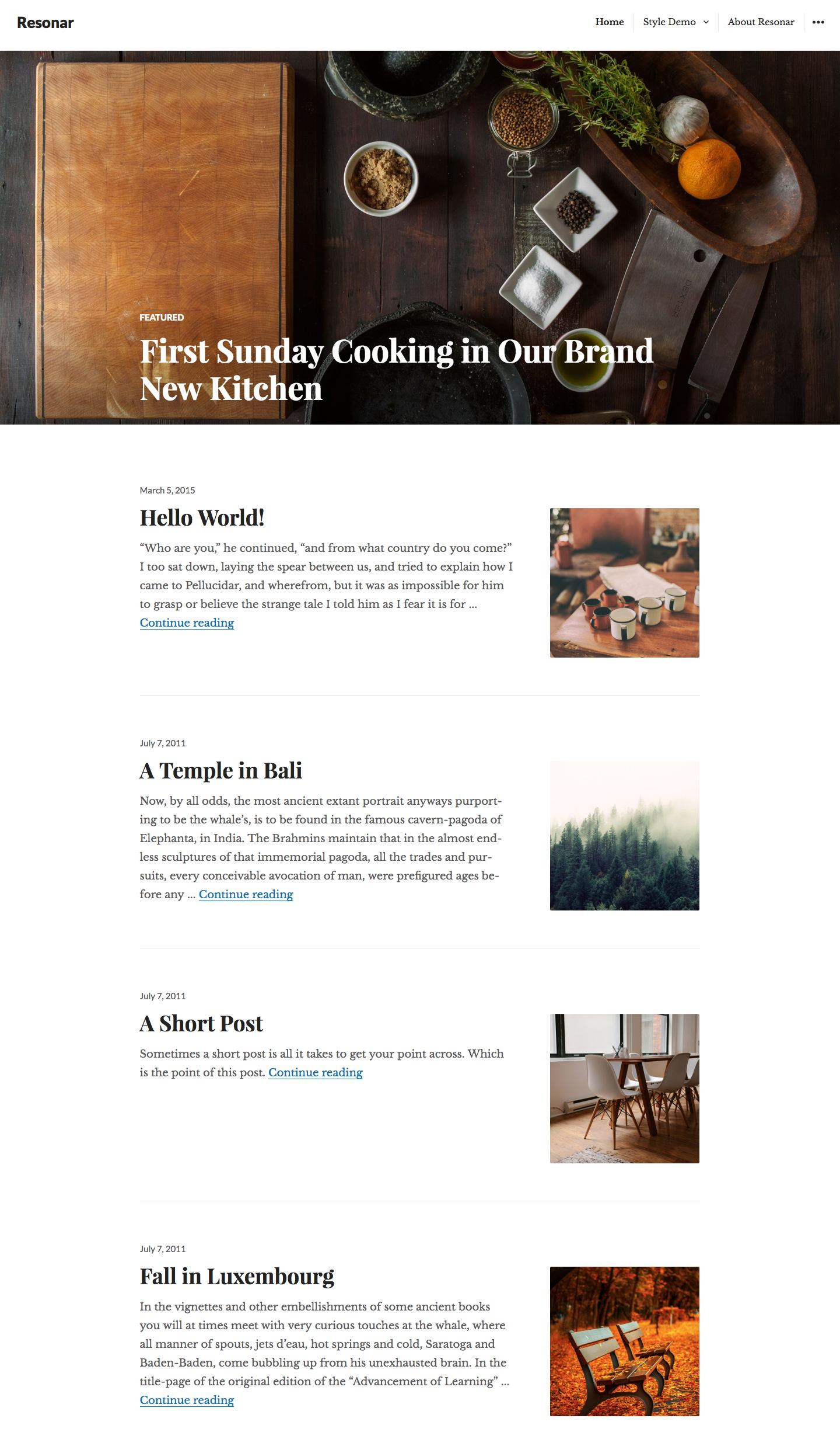 Resonar WordPress Theme