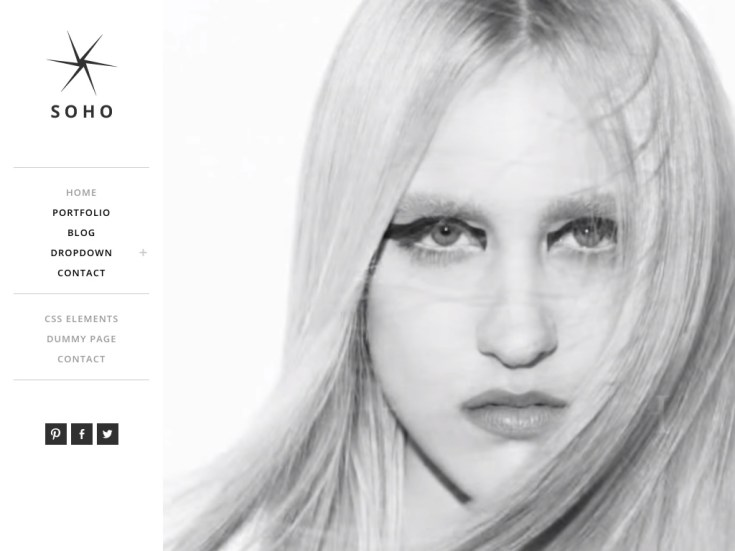 Screenshot of the Soho theme