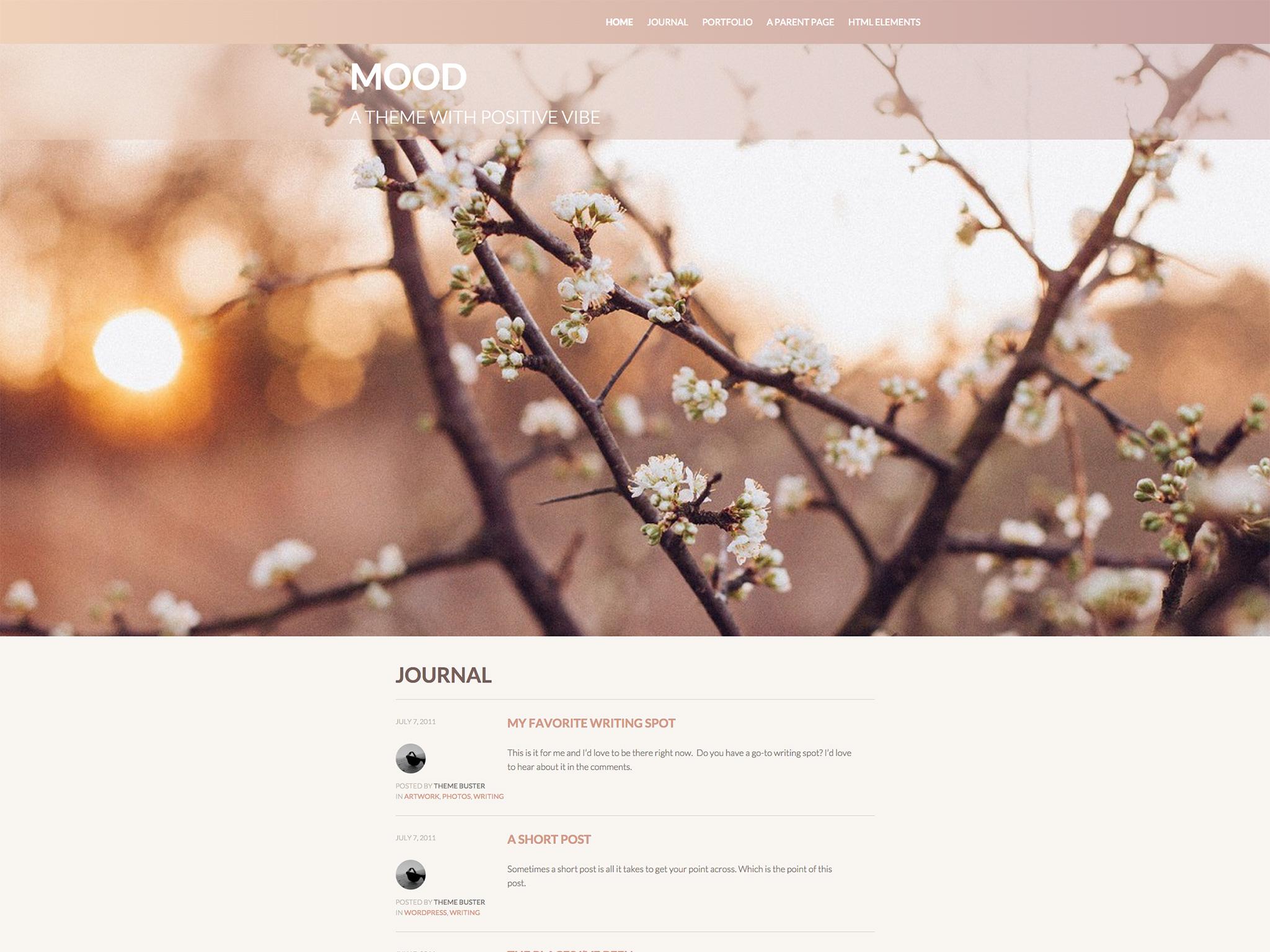 Mood WordPress Theme