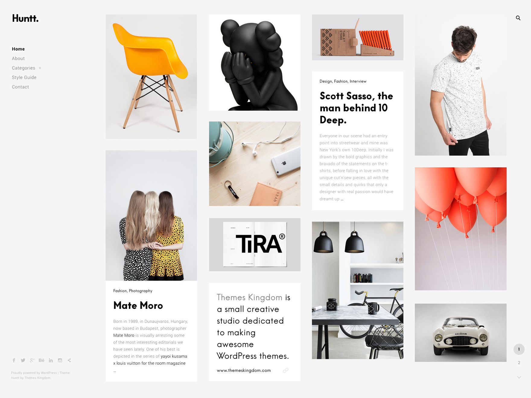 Huntt WordPress Theme