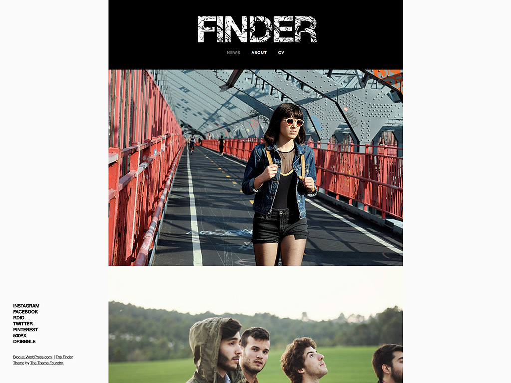 Finder WordPress Theme