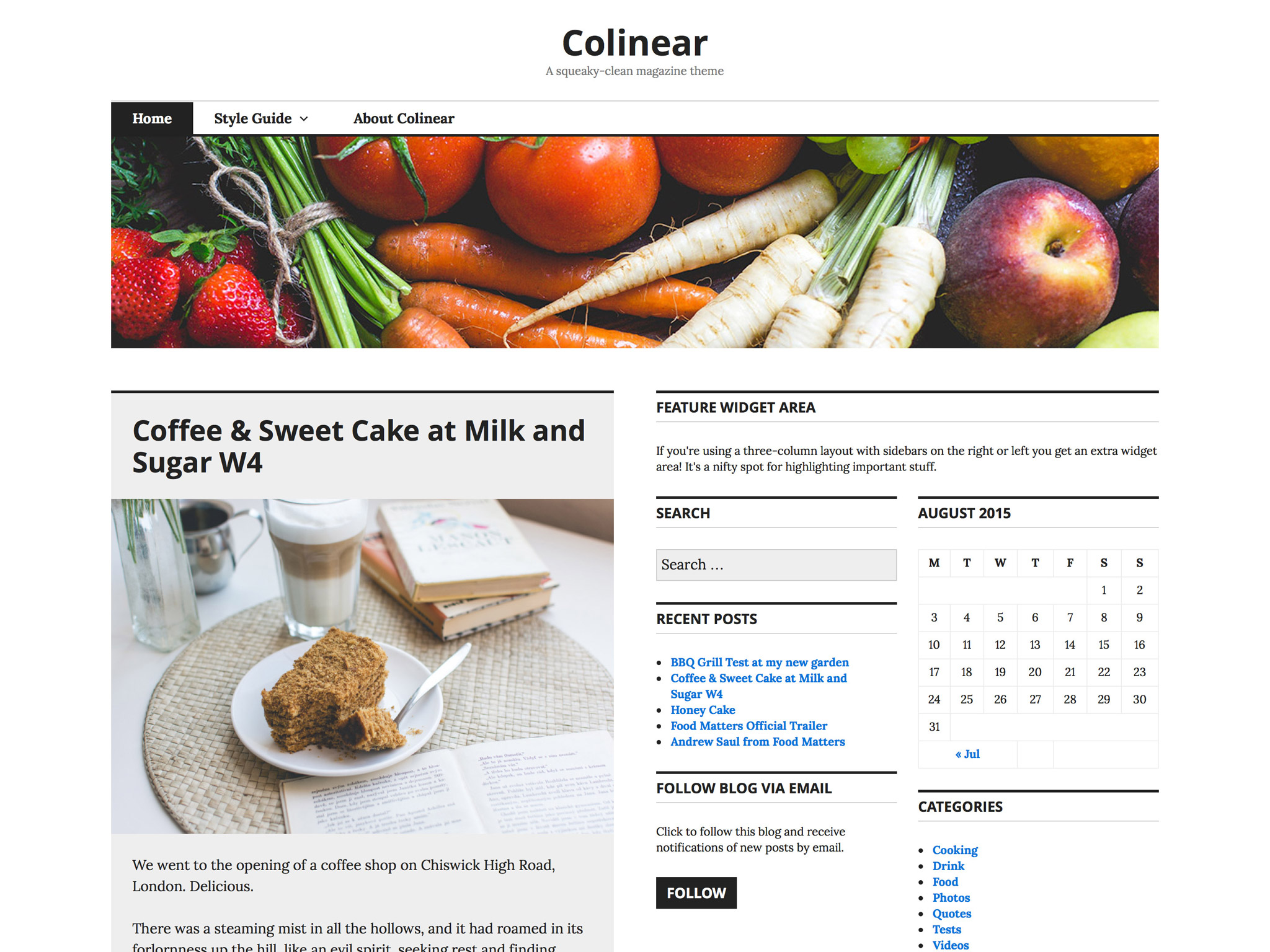Colinear WordPress Theme
