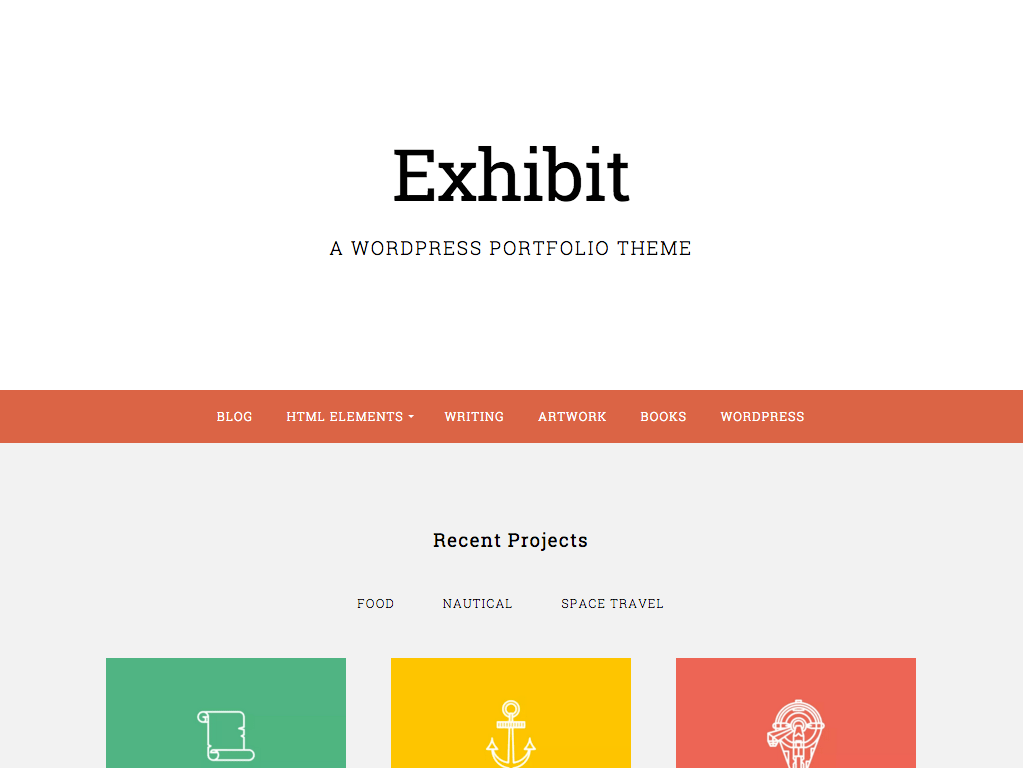 Exhibit WordPress Theme