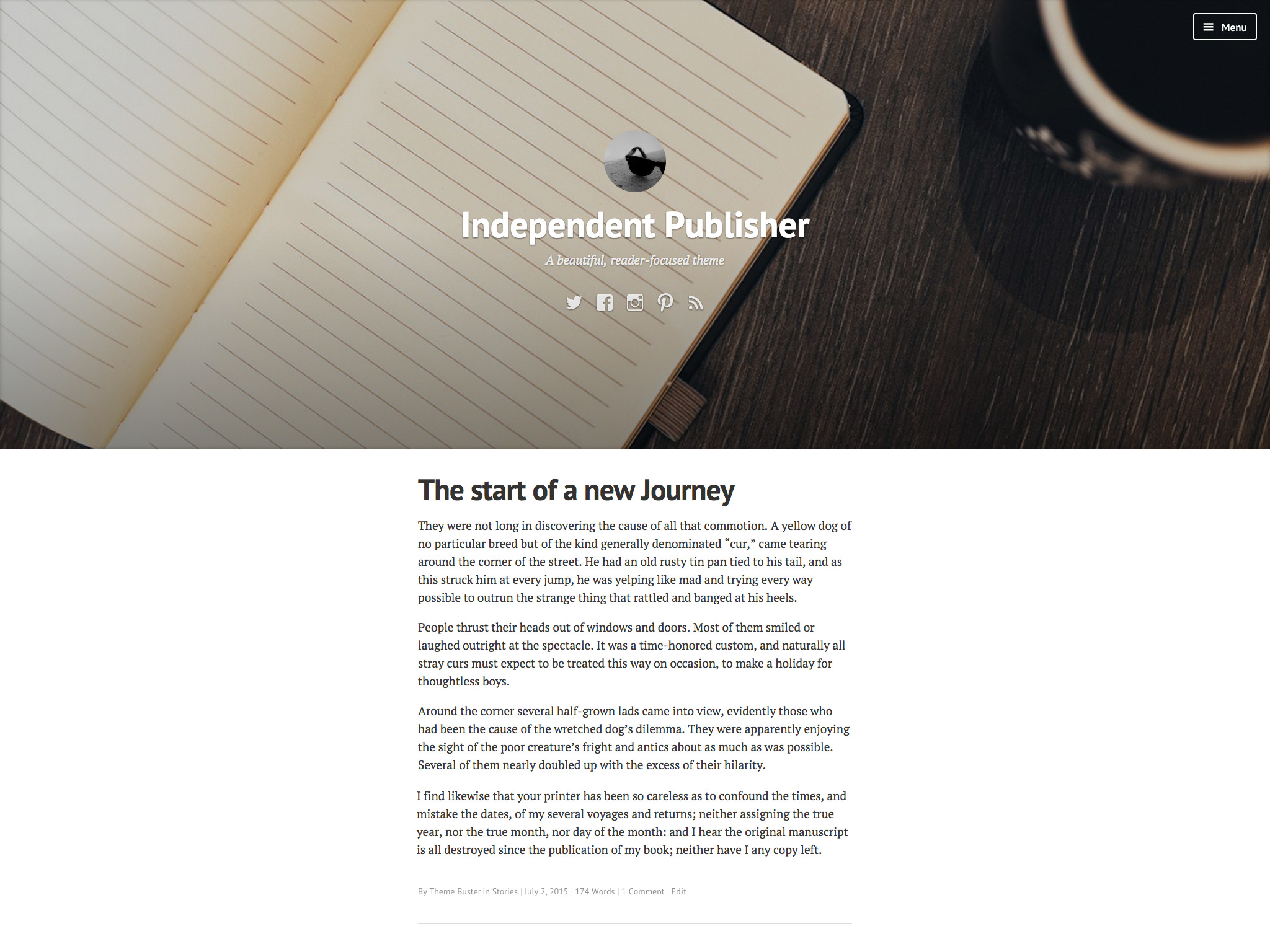 Independent Publisher WordPress Theme