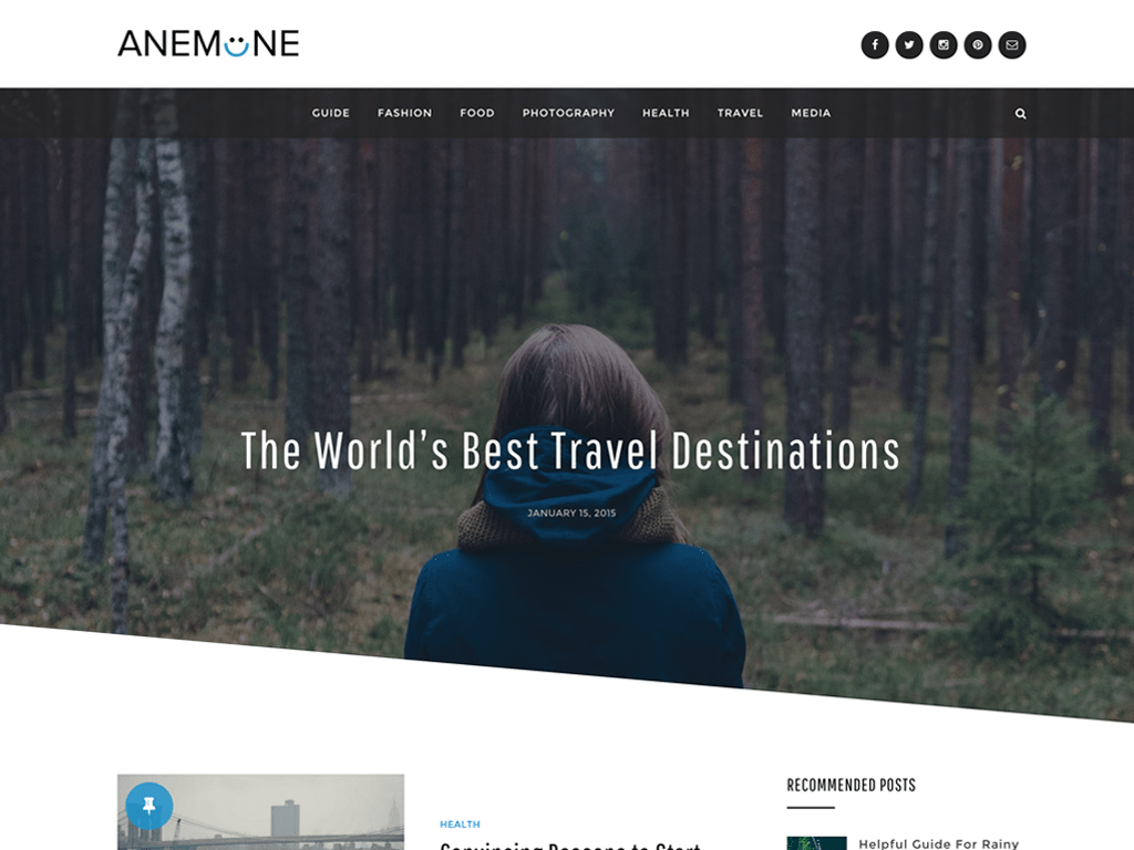 Anemone WordPress Theme