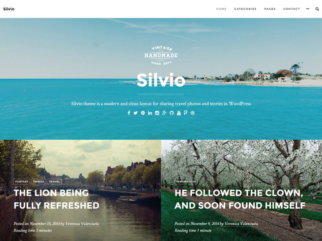 Screenshot of the Silvio theme