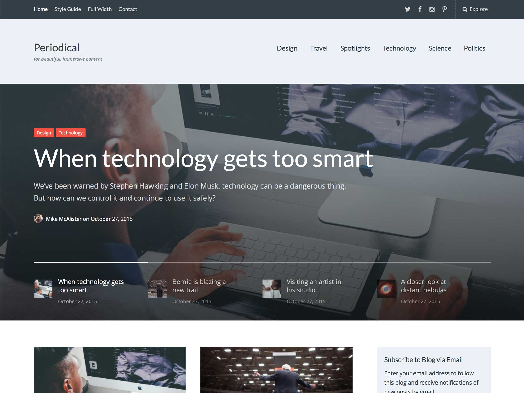 Periodical WordPress Theme