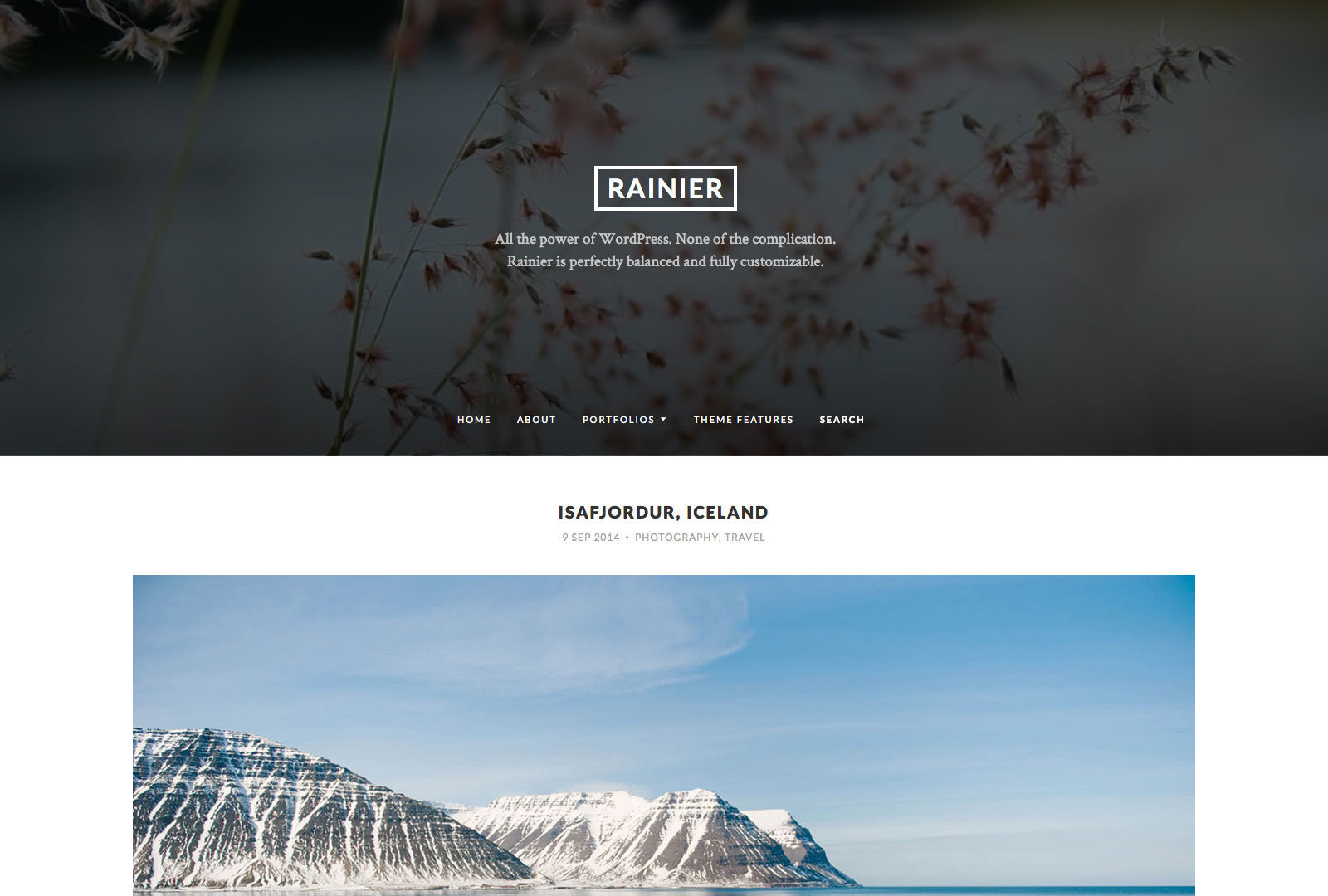 Rainier WordPress Theme
