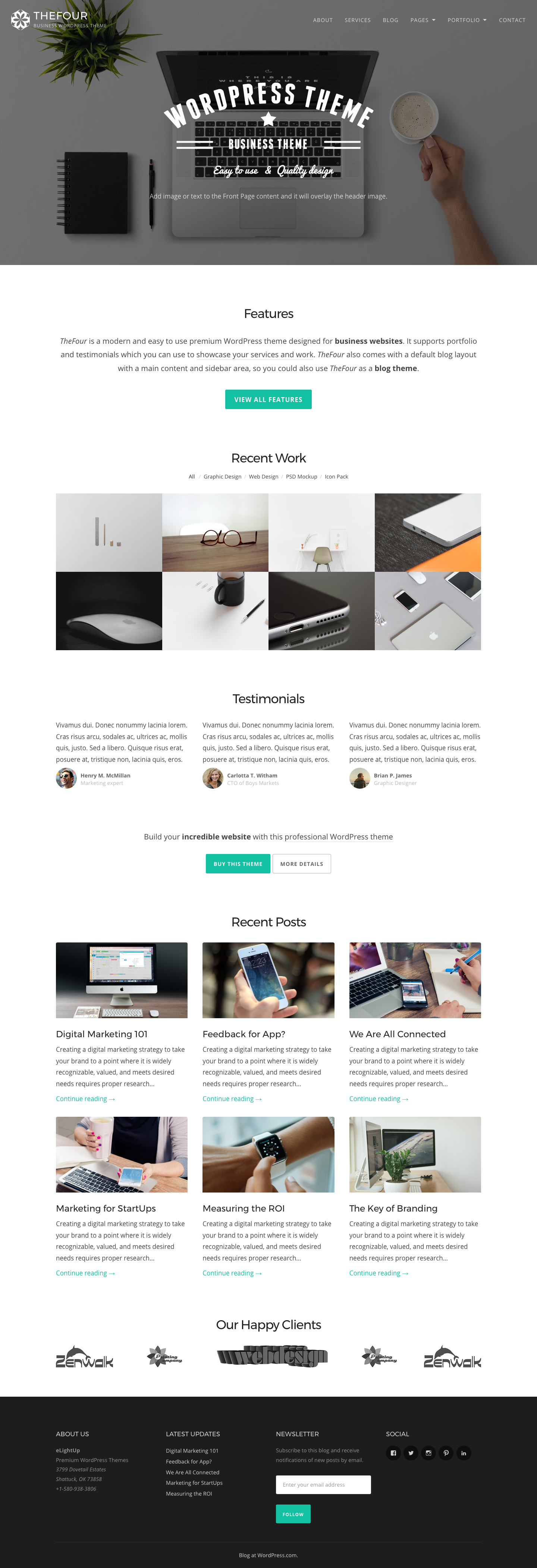 TheFour WordPress Theme