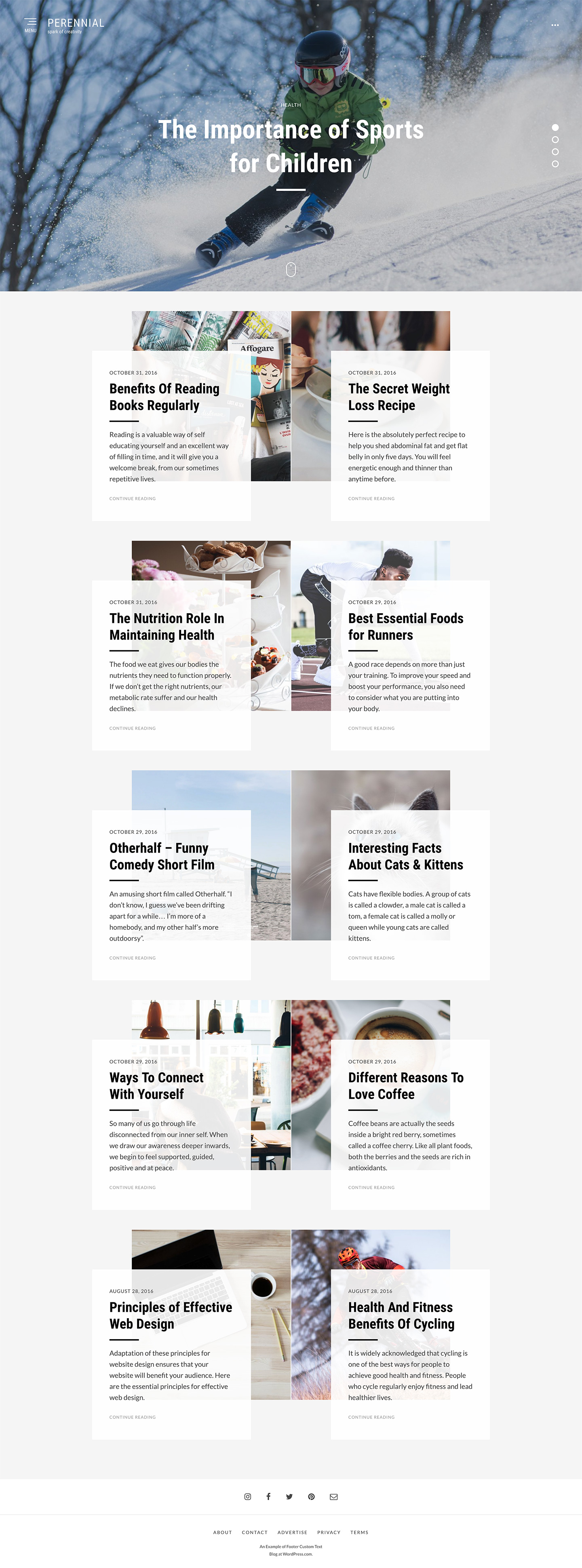 Perennial WordPress Theme