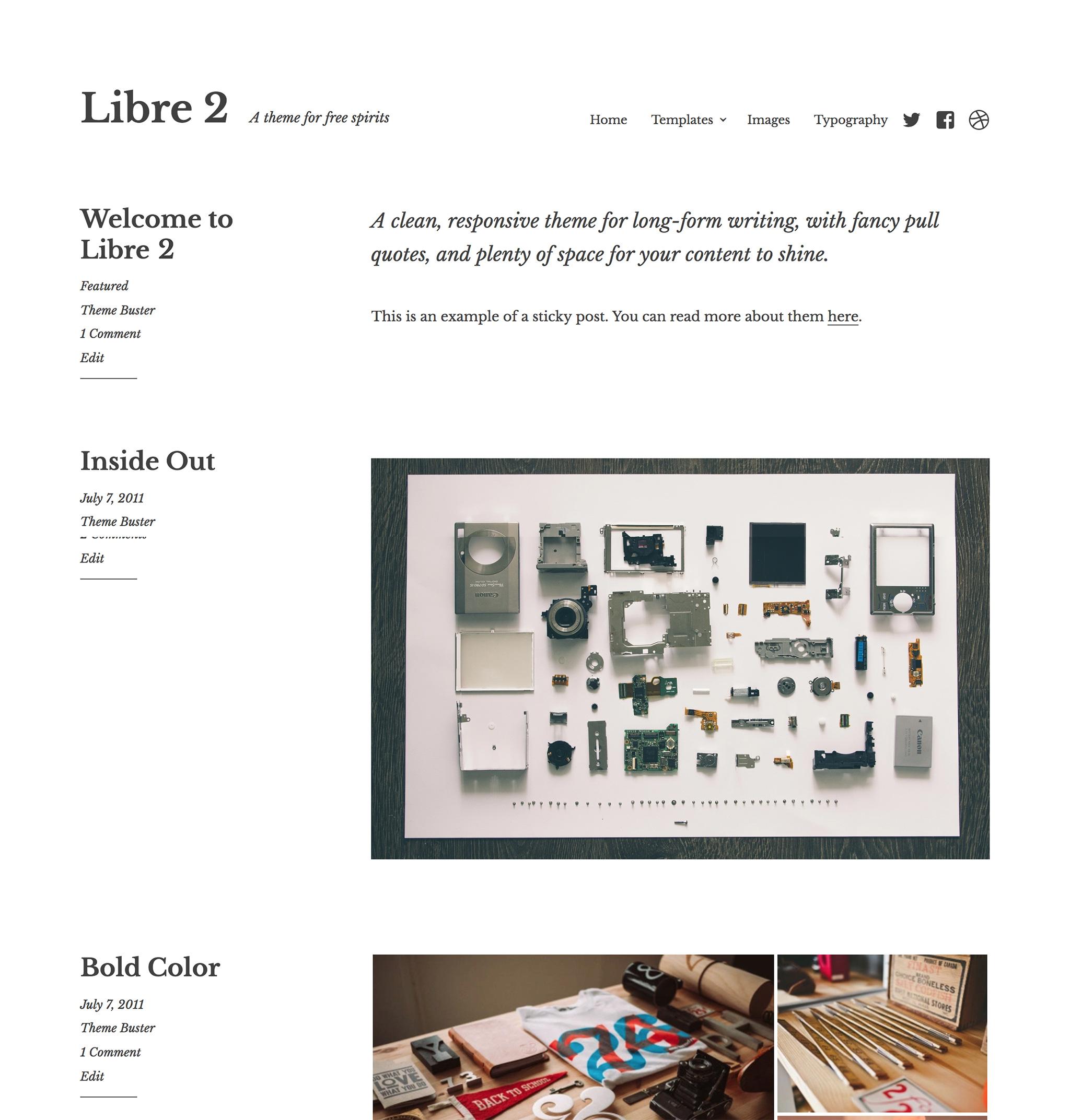 Libre 2 WordPress Theme