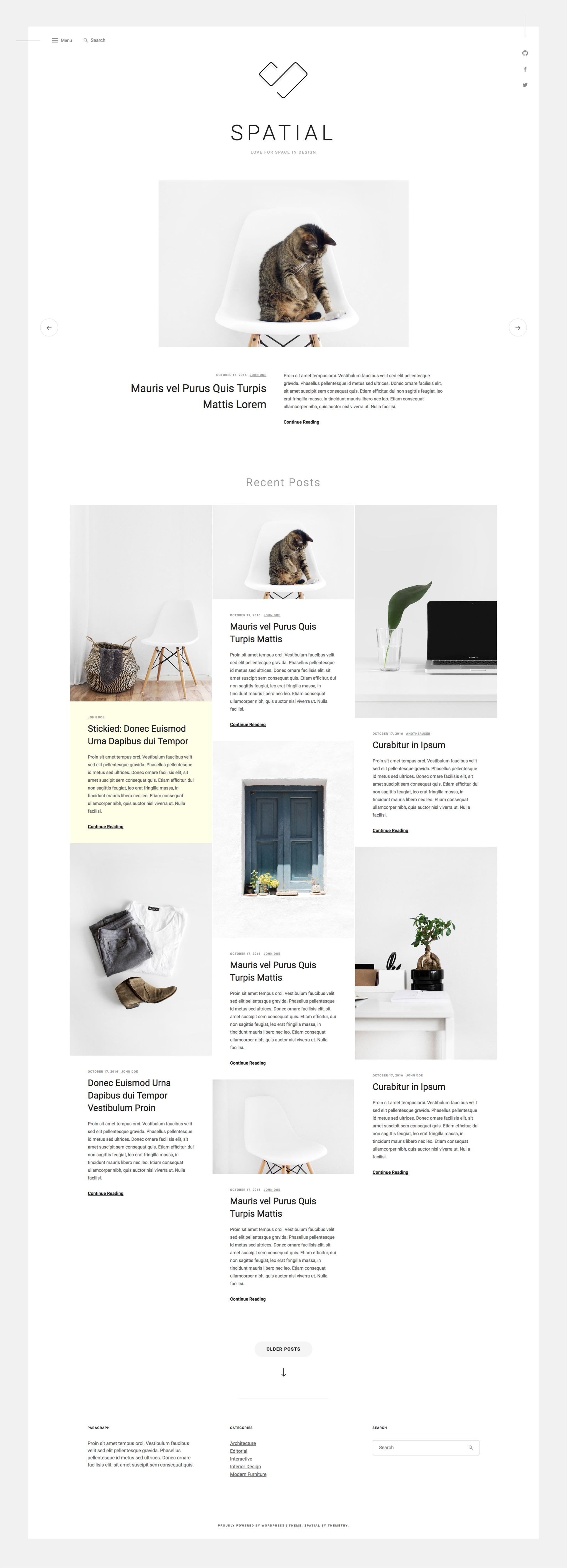Spatial WordPress Theme