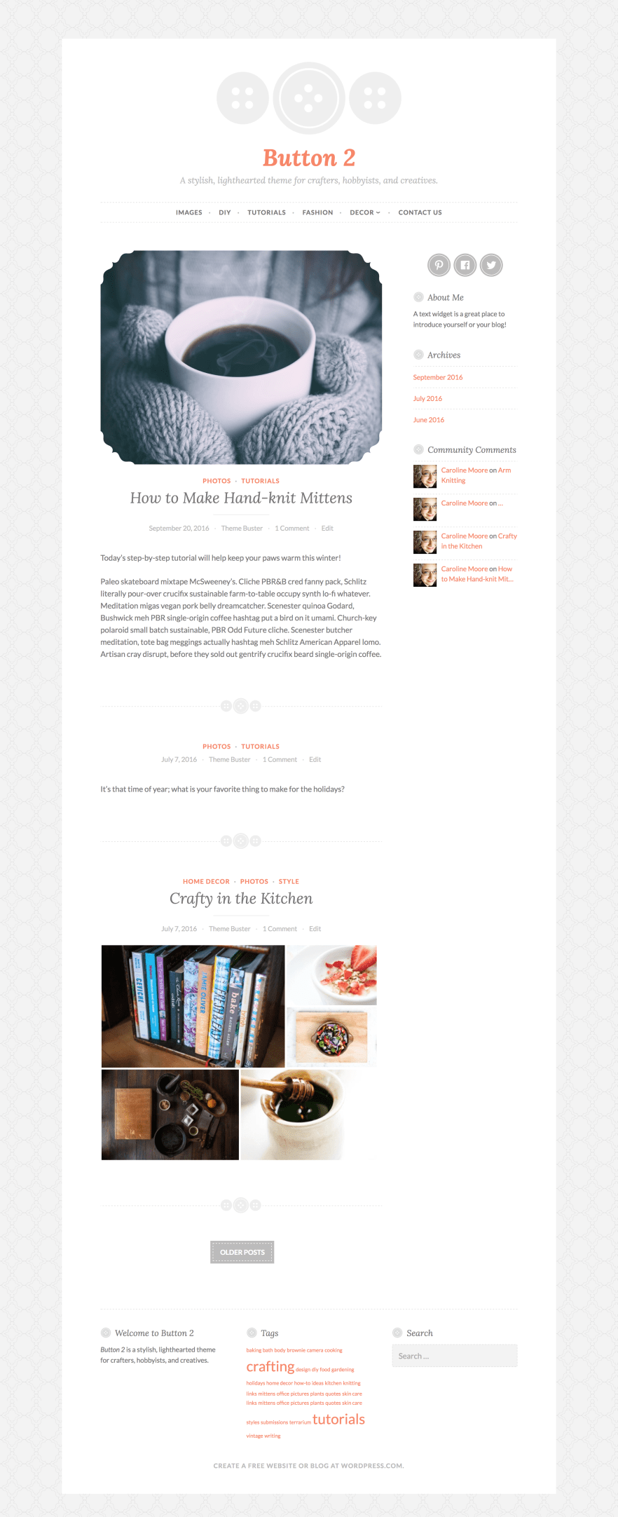 Button 2 WordPress Theme