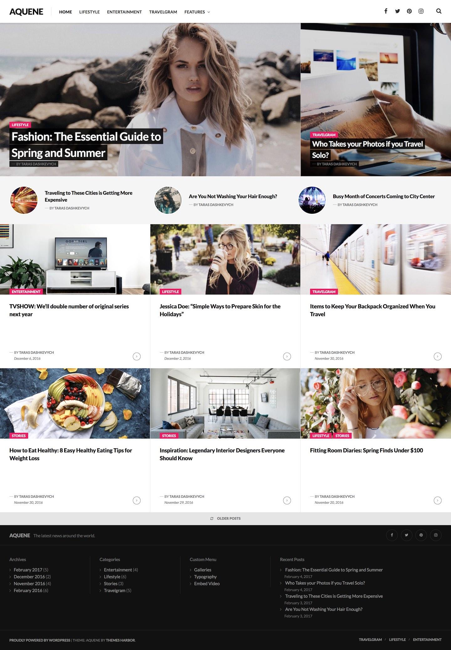 Aquene WordPress Theme