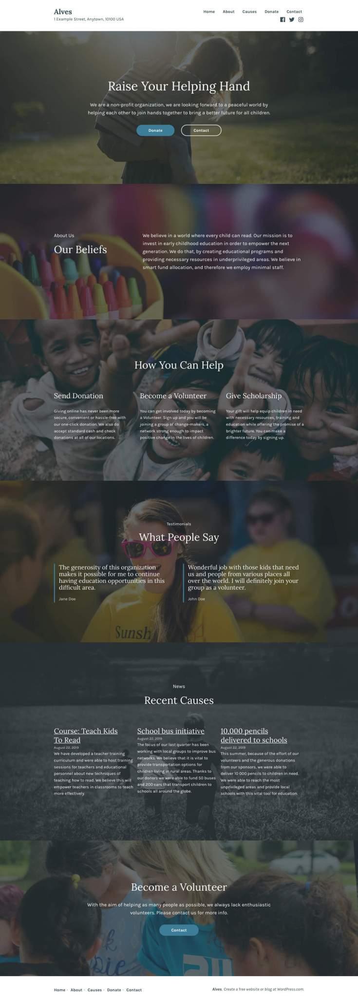 Screenshot of the Alves theme