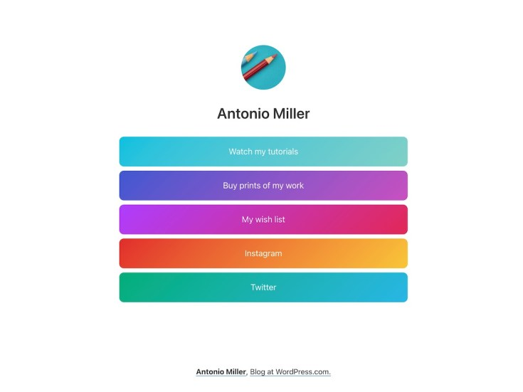 Screenshot of the Miller theme
