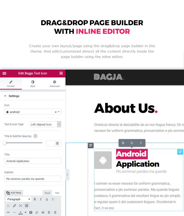 Bagja - Responsive Multi Concept & One Page Portfolio Theme - 3