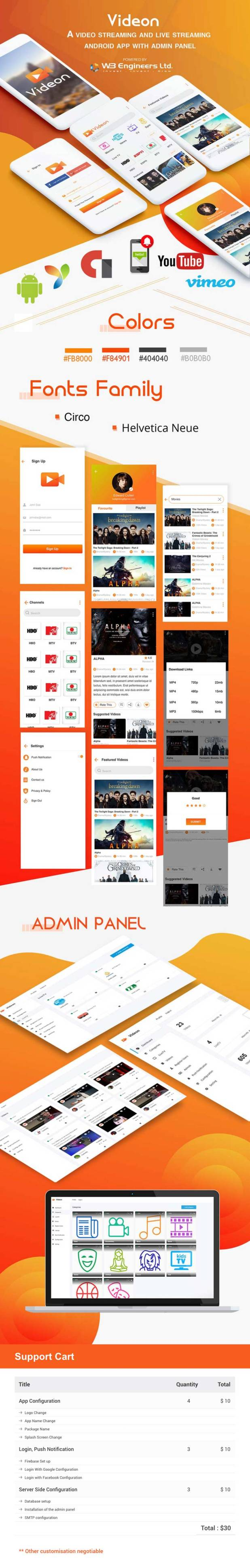 Videon - A video streaming android app with admin panel - 6