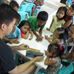 Joshua Emmanuel Tan reading bible stories.