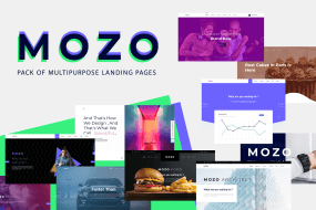Mozo - Multipurpose Pack of Landing pages