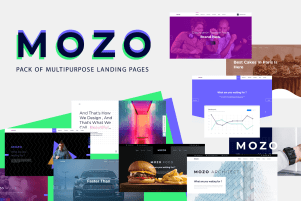 Mozo – A Pack of Multipurpose Landing Pages