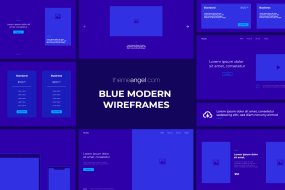 Blue Modern Wireframes