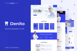 Denito | Dentistry Website UI Kit