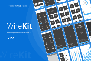 Wireframe kit for mobile application