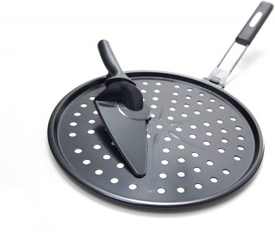 2-Piece Pizza Grill Pan With Pizza Cutter