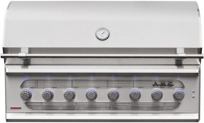 American Muscle Grill 54-Inch 8-Burner Dual Fuel Wood Charcoal Natural Gas Grill