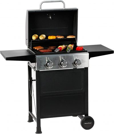 Master Cook Stainless Steel 3 Burner BBQ Grill